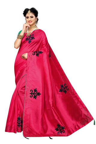 Rani Pink Color Zoya Silk Women's Saree - s-3134