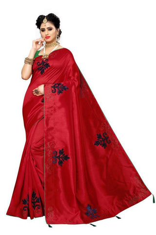Red Color Zoya Silk Women's Saree - s-4134