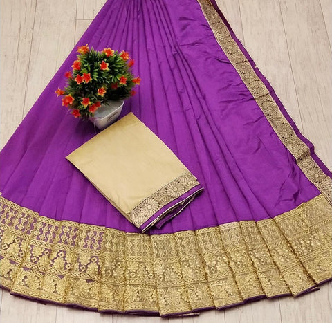 Purple Color Silk Women's Saree - s-58