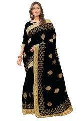 Buy Black Color Silk Women's Saree