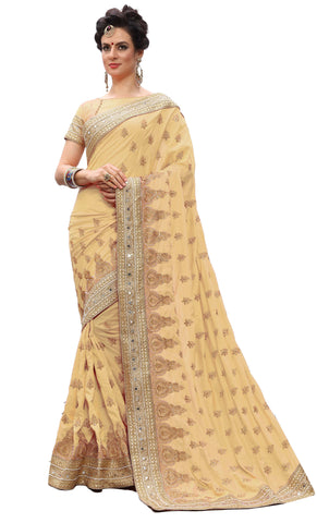 Beige Color Silk Women's Saree - sari-700Beige