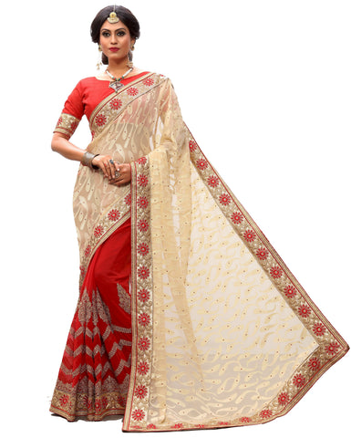 Brown Color Brasso Women's Saree - sari-703