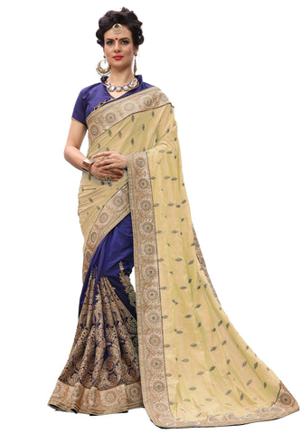 Beige Color Silk Women's Saree - sari-706Beige