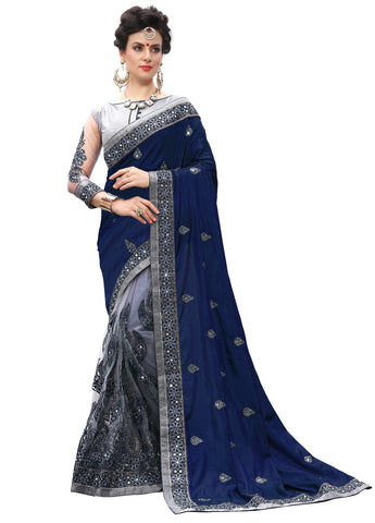 Blue Color Silk Women's Saree - sari-710Navyblue