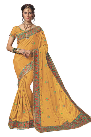 Beige Color Silk Women's Saree - sari-717beige