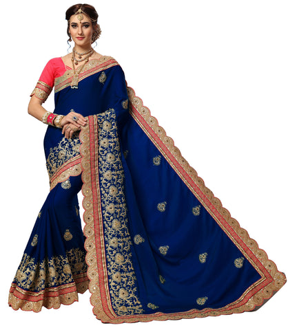 Blue Color Silk Women's Saree - sari-719blue