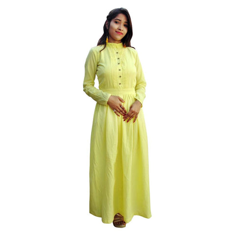 Yellow Color Cotton  Women's Stitched Kurti - sp_2019_z26