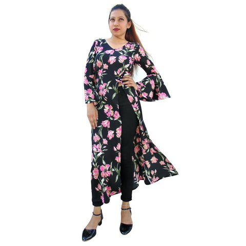 Black Color Viscose Blend Women's Stitched Tunic - sp_2019_z31