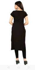 Black Color Polyster Women's Stitched Kurti - sp_tunic06