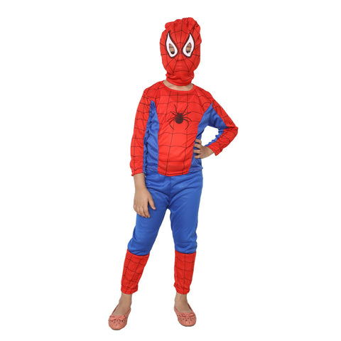 Blue Color Cotton Blend Fancy Costume Dress  - spiderman-1