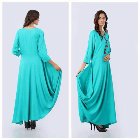 Blue Color Georgette Kurti - spk004