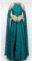 Green Color Taffeta Dress