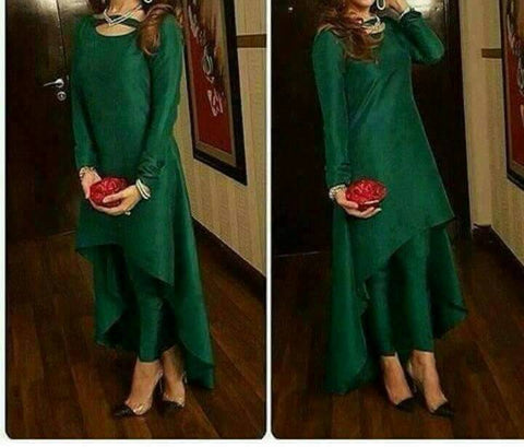 Green Color Taffeta Kurti - spk013