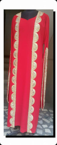 Red Color Georgette Kurti - spk020