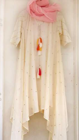 Off White Color Georgette Kurti - spk022