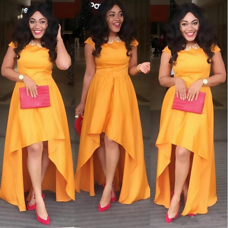 Yellow Color Taffeta Dress