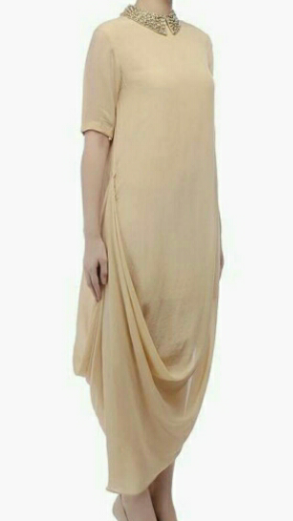 Beige Color Georgette Kurti