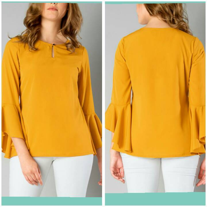 5bf65c7287c Mustard Color Crepe Top and Tee