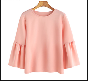 Baby Pink Color Knit Top - sptp021