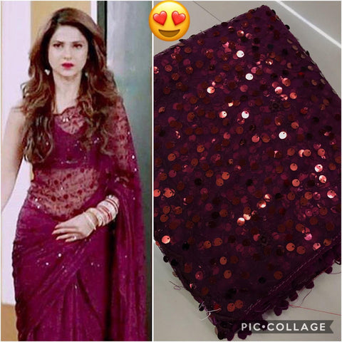 Maroon Color Soft Net Women's Saree - sv-686