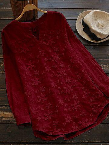 Maroon Color Cotton Women Top - t-6139