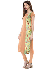 Peach Color Crepe Kurti - tfkucrdp-10042