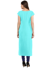 Multi Color Crepe Stitched Kurti - tfkucrdp-10108