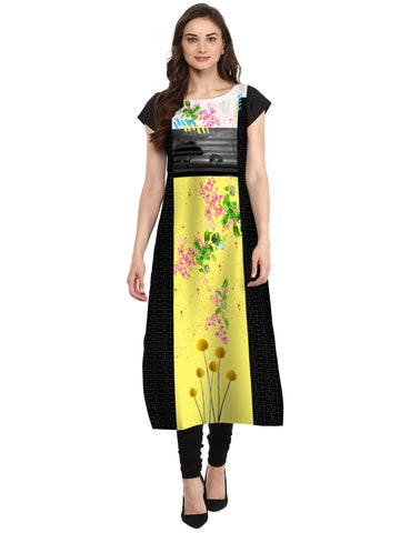 Multi Color Crepe Stitched Kurti - tfkucrdp-101101