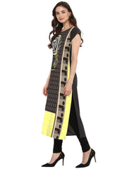 Multi Color Crepe Kurti - tfkucrdp-10117