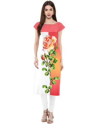 Multi Color Crepe Stitched Kurti - tfkucrdp-101181