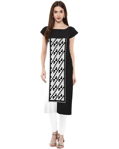 Multi Color Crepe Stitched Kurti - tfkucrdp-101191