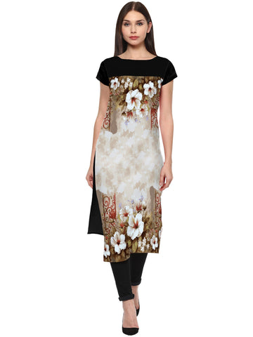 Multi Color Crepe Stitched Kurti - tfkucrdp-10120