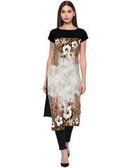 Multi Color Crepe Kurti