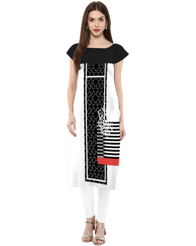 Multi Color Crepe Stitched Kurti - tfkucrdp-101211