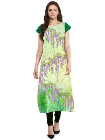 Multi Color Crepe Stitched Kurti - tfkucrdp-10130