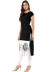 Multi Color Crepe Stitched Kurti - tfkucrdp-10133