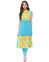SkyBlue Color Crepe Kurti