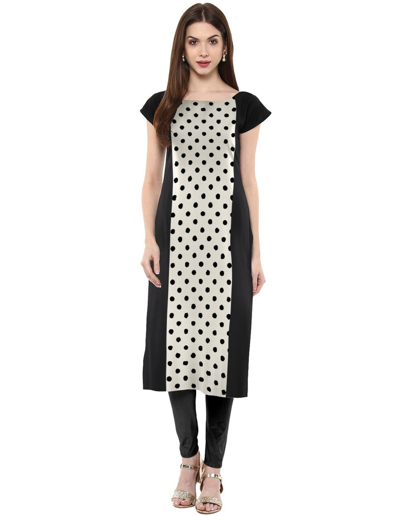 White Color Crepe Kurti