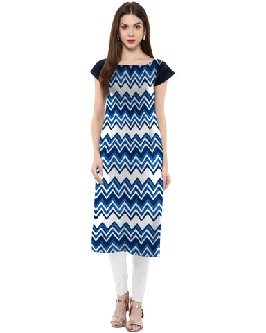 Multi Color Crepe Stitched Kurti - tfkucrmp-10026-1