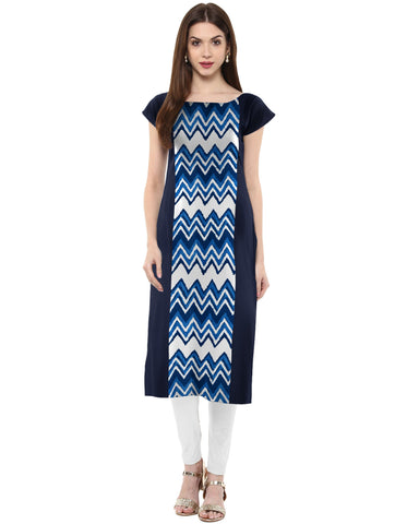 Multi Color Crepe Stitched Kurti - tfkucrmp-10029-1