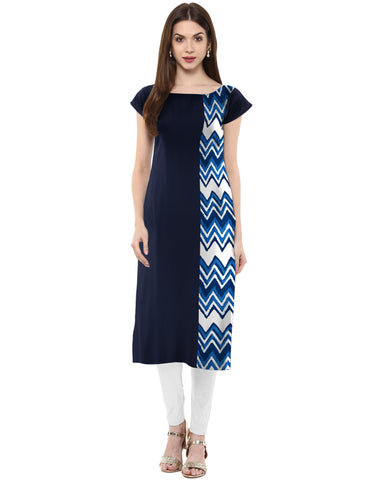 Multi Color Crepe Stitched Kurti - tfkucrmp-10030-1