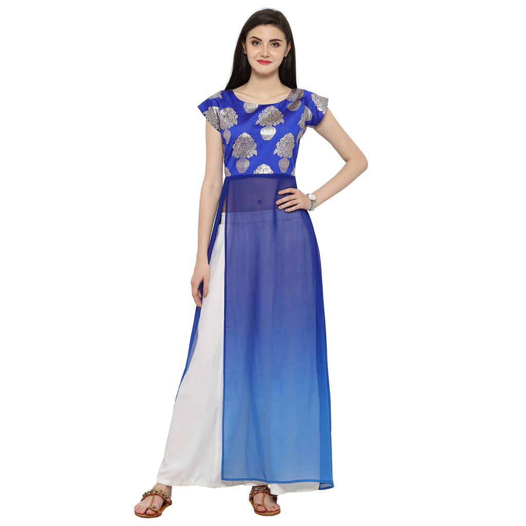 Blue Color Georegtte Kurti