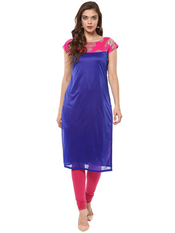 Blue Color Lycra  Stitched Kurti - tfkulyfp-101071