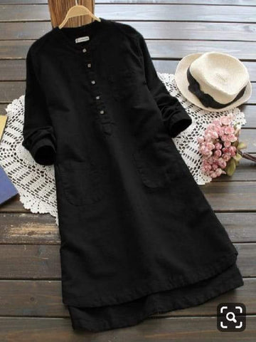 Black Color Poly Rayon Women's Stitched Kurti - three-pocket-shirt-7