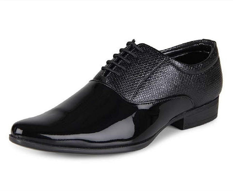 Black Color Patent Leather Men Shoe - tpn205-6