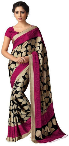 Multi Color Crepe Saree - uniform-01