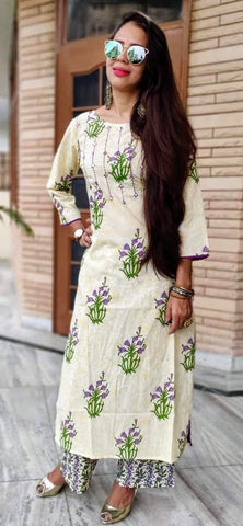 Violet Color Cotton Stitched Kurti - vedikaoverseas-04