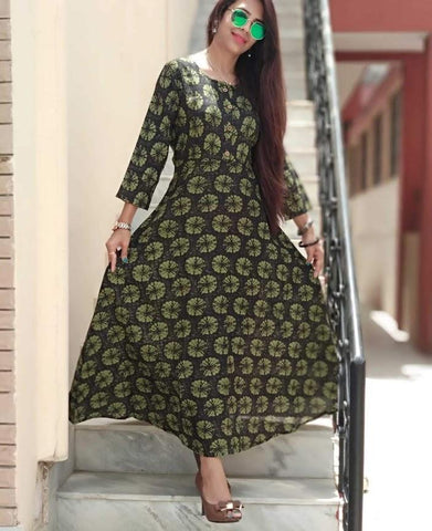 Multi Color Rayon Stitched Kurti - vedikaoverseas-90