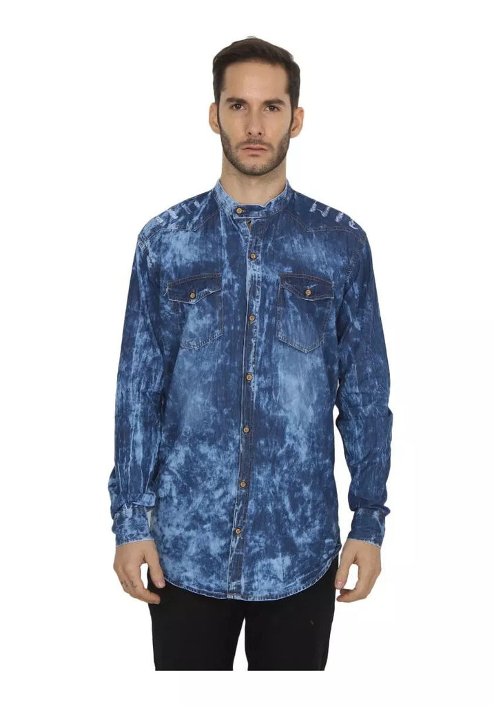 Buy Grey and Blue Color Denim Shirt