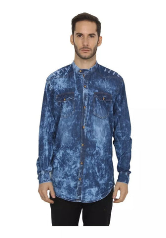 Grey and Blue Color Denim Shirt - vero-gry-bl
